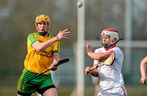Donegal's Jack Matthews in action against Conor Casey