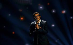 """Singer John Karayiannis representing Cyprus performs the song """"One Thing I Should Have Done"""" during the second semifinal of the upcoming 60th annual Eurovision Song Contest In Vienna, May 21, 2015.  REUTERS/Leonhard Foeger"""