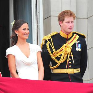 Harry and Kate Middleton's sister Pippa at the Royal Wedding in 2011