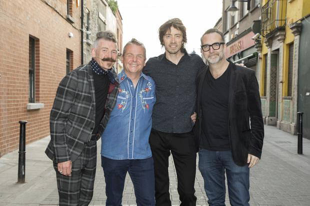 Jerry Fish, Nick Kelly(Fat Lady Sings), Cian Boylan(Irish Chamber Orchestra) and Joe Wall(The Stunning) at the Tipp Classical 2019 launch at Ryans of Camden Street, Dublin. Photo: Michael Donnelly.