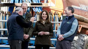 The Duke and Duchess of Cambridge visited Teagasc Animal and Grassland Research Centre in County Meath as part of their three-day visit to Ireland (Liam McBurney/PA)
