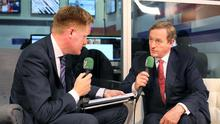 Taoiseach Enda Kenny is interviewed for independent.ie by Fionnan Sheehan at the Web Summit in Dublin.