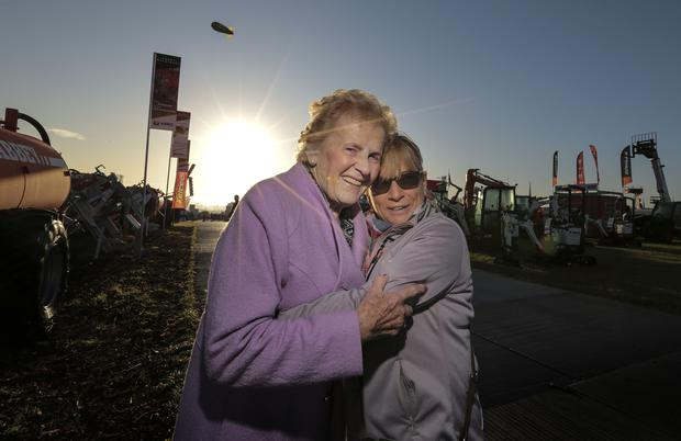 Anna May McHugh and Antoinette at the National Ploughing Championships. Picture: David Conachy