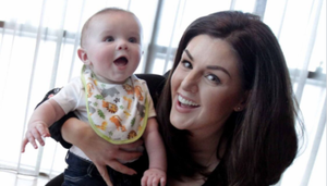 Sile Seoige with her son Cathal at the launch of Aldi's Baby and Toddler event