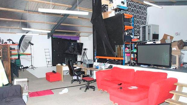 The photographic studio where Paul Brown lured women for sex through a fake modelling website  Photo credit: Devon and Cornwall Police/PA Wire