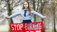 Striking example: Climate change activist Iona Logan from Raheen, Limerick. Photo: Don Moloney