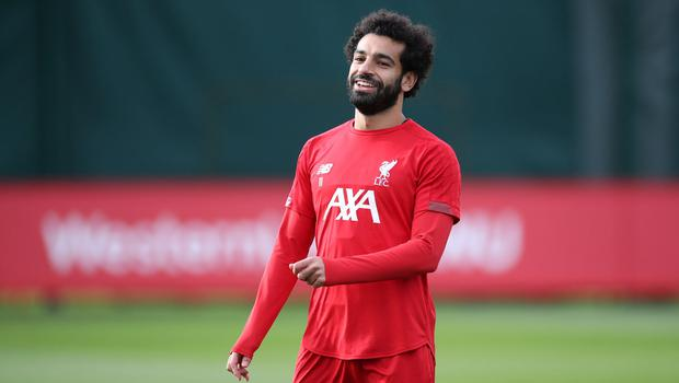 HE'S BACK: Mohamed Salah in training for Liverpool ahead of the clash with Genk. Photo: Action Images via Reuters/Carl Recine