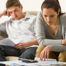 Stress: 'Financial infidelity' can arise when a couple hide spending habits from each other. Picture posed