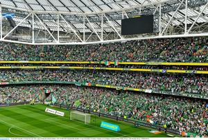 Ireland fans were out in force against Scotland