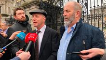 Talks: Michael and Danny Healy-Rae after meeting with Sinn Féin. Photo: PA
