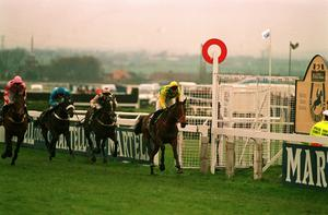 Finishing first past the post aboard Esha Ness before being told the 1993 renewal of the race was void. PA Photo