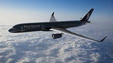 The new Four Seasons private jet. Its design is inspired by caviar and champagne.