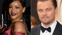 Rihanna and Leonardo DiCaprio reportedly kissed at the Playboy mansion.