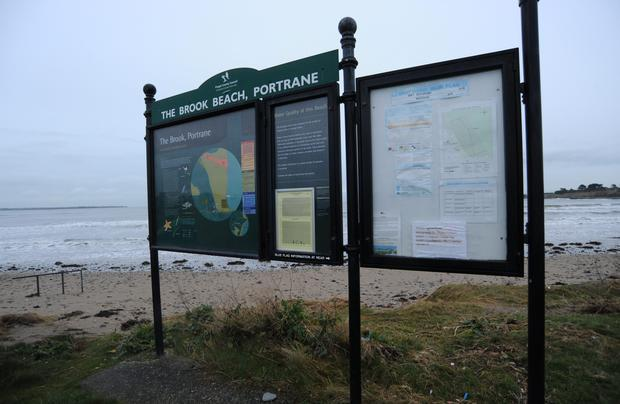 Brook Beach in Portrane was detected as having water quality which has deteriorated to below acceptable levels for swimming Picture: Caroline Quinn