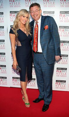 Lisa Murphy and Gerald Kean on the Red Carpet at The Peter Mark VIP Style Awards 2015 at The Marker Hotel,Dublin. Pictures Brian McEvoy