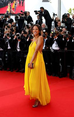 "Model Noemie Lenoir poses on the red carpet as she arrives for the opening ceremony and the screening of the film ""La tete haute"" out of competition during the 68th Cannes Film Festival in Cannes, southern France, May 13, 2015. The 68th edition of the film festival will run from May 13 to May 24.       REUTERS/Yves Herman"