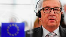 European Commission president Jean-Claude Juncker at the European Parliament in Strasbourg yesterday. Photo: AFP/Getty Images