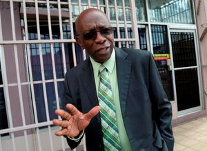 Trinidad and Tobago's former National Security Minister and former FIFA Vice President, Jack Warner, gestures after leaving the offices of the Sunshine Newspaper which he owns, in Arouca, East Trinidad. Photo: Reuters