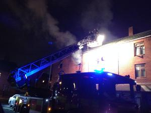 The fire broke out at Gloucester Place in the north inner city. Photo: Conor Feehan