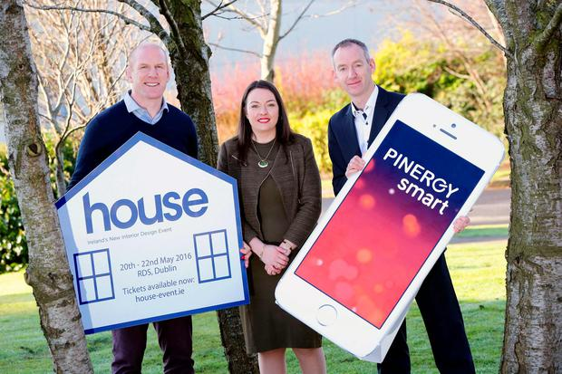 Pinergy announces sponsorship of house 2016 Pictured are Paul O'Connell , Cliona Carroll, Sponsorship & Events Manager, INM and Enda Gunnell CEO PINERGY