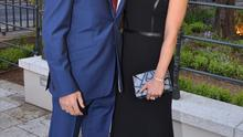 Dublin 19-05-15 Guests arriving at the Mansion House for the Pride of Ireland awards.  Photos- John Dardis Pictured- Amanda Byram & new boyfriend Julian O'Kines