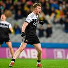 Paul Devlin of Kilcoo celebrates after scoring a late free to draw the game during the AIB GAA Football All-Ireland Senior Club Championship final against Corofin at Croke Park in Dublin. Photo by Sam Barnes/Sportsfile