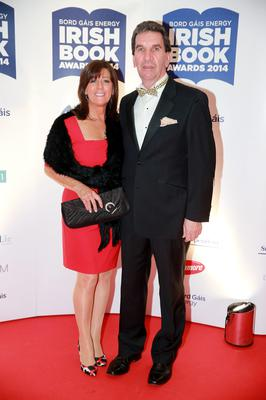 Ita and Tom Maguire at the Bord Gais Energy Irish Book Awards at the Double Tree by Hilton Hotel in Dublin. Picture: Arthur Carron