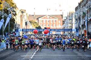 The 2019 Dublin Marathon was the biggest ever with 22,500 runners taking part. Photo: Ramsey Cardy/Sportsfile