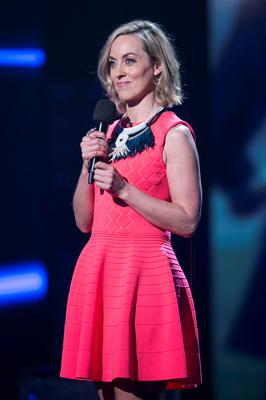 Kathryn Thomas  during the first live show of The Voice of Ireland in The Helix. NO FEE PIX KOBPIX
