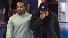 Distraught: Australian bowler Sean Abbott (right) leaves St Vincent's Hospital following the death of Phillips Hughes