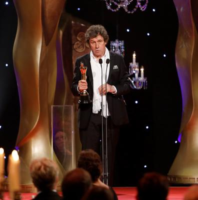 Stephen Rae who received the award for the best actor in a supporting role in a drama for The Honourable Woman at the IFTA Awards 2015 at the Mansion House, Dublin. Photo by Kyran O'Brien