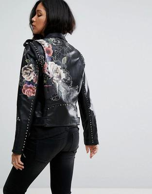 Floral painted jacket from ASOS