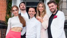 Roz Purcell, William Murray, James Kavanagh, Vogue Williams and James Butler at the Moët Party Day in Dublin.