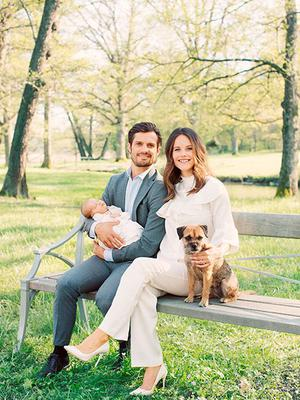 Sweden's Prince Carl Philip and Princess Sofia with Prince Alexander. Picture: Erika Gerdemark, The Royal Court, Sweden