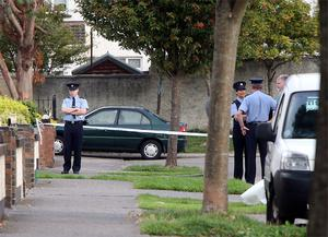 The scene of the shooting at Cherrywood Drive, Clondalkin this monring.