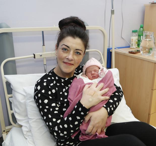 Ashley Barron with her baby girl in Limerick. Photo: Liam Burke/Press 22