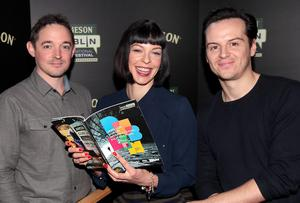 Actress Pollyanna McIntosh with Actors Hugh O Connor (Left) and  Andrew Scott  (Right)