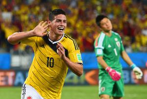 Colombia's James Rodriguez has come into his own at this World Cup. Photo: Christopher Lee/Getty Images