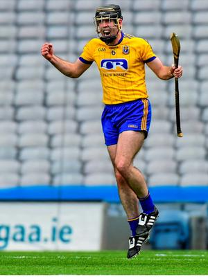 6 June 2015; Roscommon captain Micheal Kelly celebrates after scoring the winning goal against Armagh from a free. Nicky Rackard Cup Final, Armagh v Roscommon. Croke Park, Dublin.  Picture credit: Matt Browne / SPORTSFILE