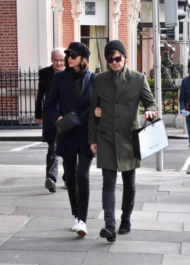 Actress Caitriona Balfe spotted with fiancée Tony McGill close to St Stephen's Green