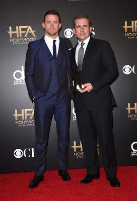 Actors Channing Tatum and Steve Carell star in Foxcatcher