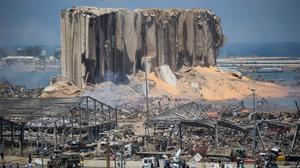 Aftermath: Tuesday's blast completely destroyed the port and damaged much of the city centre and residential areas. Photo: Daniel Carde/Getty Images