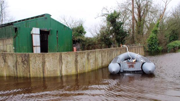The army have been deployed to help flooding victims, but thieves stole one of their boats to use in burglaries in Clare Photo: Press 22