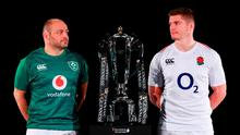 Ireland captain Rory Best, left, and England captain Owen Farrell during the 2019 Guinness Six Nations Rugby Championship Launch at the Hurlingham Club in London, England. Photo by Ian Walton/Sportsfile
