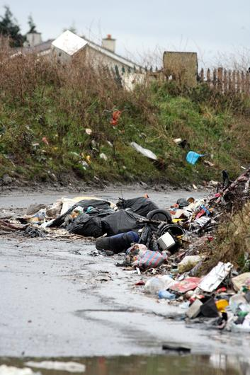 The countryside is blighted by illegal dumping. Stock picture