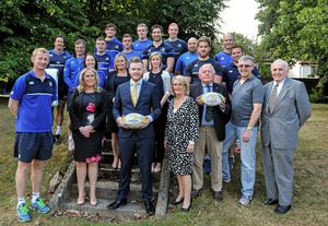 Leinster Rugby announced The Alzheimer Society of Ireland and Cardiac Risk in the Young as their charity partners for 2015/16. Joe Walsh Tours, the official travel partner of Leinster Rugby, has provided both charities with 14 seats to the first away Guinness PRO12 game against Edinburgh to raise awareness and funds for both causes. At the announcement were Leinster head coach Leo Cullen along with Leinster players and staff with representatives from Cardiac Risk in the Young and The Alzheimer Society of Ireland