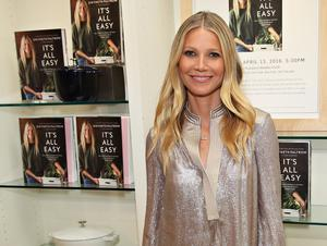 """NEW YORK, NY - APRIL 13:  (EXCLUSIVE COVERAGE) Actress Gwyneth Paltrow signs copies of her book """"It's All Easy"""" at Williams-Sonoma on April 13, 2016 in New York City.  (Photo by Cindy Ord/Getty Images)"""