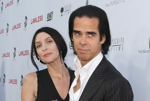 TWO OF THE SAME SPECIES: Nick Cave with his partner, former model Susie Bick
