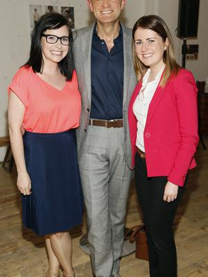 no fee if house 2016 mentioned in caption Jenny Adamson, Brendan O'Connor and Jen Fitzsimons at the launch of house 2016  at The Chocolate Factory. The new interiors event launched by INM will run from 20th - 22nd May 2016 at the RDS Simmonscourt, and will showcase the very best of all things home and interiors related-photo Kieran Harnett