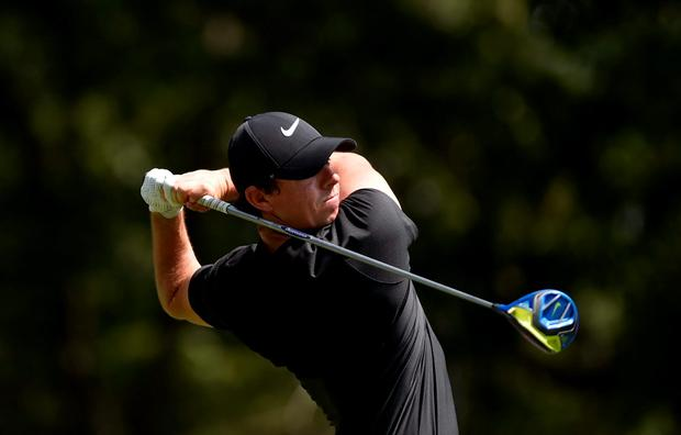 McIlroy fired a two-under-par 69 but his effort to claw his way into contention was marred by late bogeys on the 15th and 16th. Photo: Eric Sucar/USA TODAY Sports